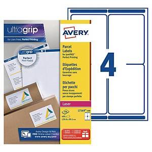Etiquette expédition Avery - L7169-100 - 99,1 x 139 mm - blanche - par 400