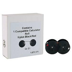 Ruban d impression pour calculettes Stock 35 (GR 51) R B-02, noir/rouge