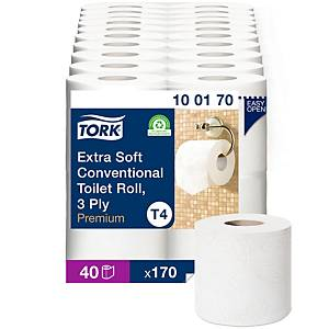 Tork Extra Soft 3 Ply Conventional Toilet Roll- Pack of 4
