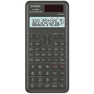 Taschenrechner Casio FX-85MS, 10 / + 2stellig, Solar-/Batteriebetrieb, schwarz