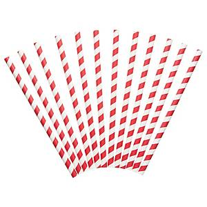 Red And White Paper Straws- Pack of 250
