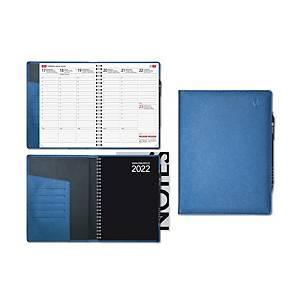 CC 2240 Viikkomuistio Plus pöytäkalenteri 2020 A5, sininen