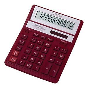 Kalkulator CITIZEN SDC-888XRD, 12 pozycji, czerwony*