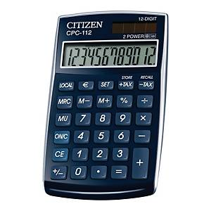 CITIZEN CPC-112BL CALCULATOR 12DIG BLUE