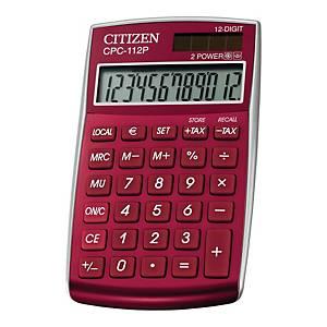 Kalkulator CITIZEN CPC-112, 12 pozycji, czerwony*
