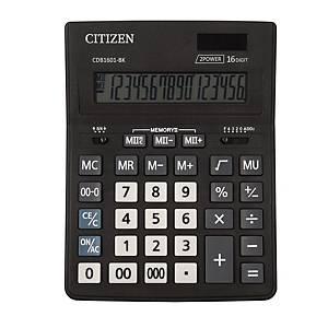 Citizen CDB1601 Business Line Tischrechner, 16-stellig, schwarz
