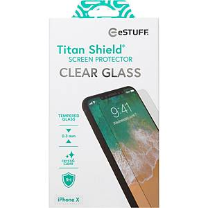 Displayschutz eStuff Titan Shield, iPhone X/XS, transparent