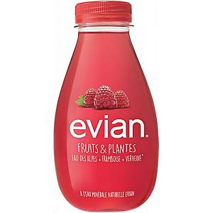 Evian rasberry & verveine water 37 cl - pack of 12 bottles
