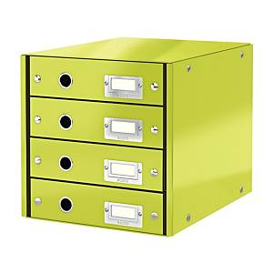 LEITZ CLICK & STORE 4-DRAWER GREEN