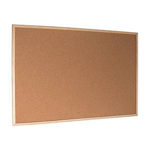 Korková tabuľa sdreveným rámom Esselte Economy, 80× 60 cm