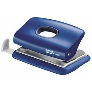 4-lyukú lyukasztó Rapid FC10 mini, 10 lapra, kék