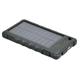 Batterie externe solaire Port Designs - 8000 mAh - noire