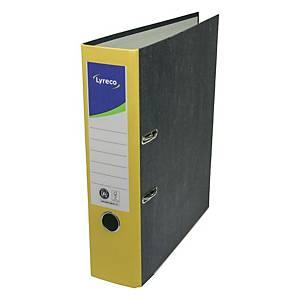 Ordner Lyreco Standard, A4, Rückenbreite: 80mm, gelb