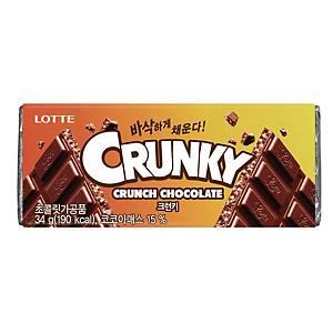 LOTTE CRUNKY CHOCOLATE 34G
