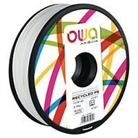Filament 3D PS Owa 750 grammes 1,75mm blanc
