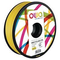 Filament 3D PS Owa 750 grammes 1.75mm jaune