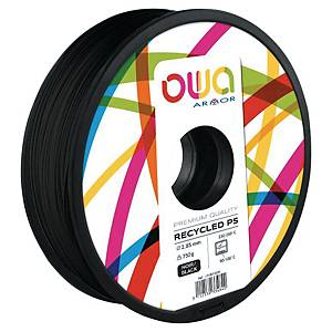 Filament d impression 3D Owa - PS - 1,75 mm - 750 g - noir
