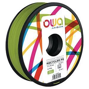 Filament 3D PS Owa 750 grammes 1,75mm vert
