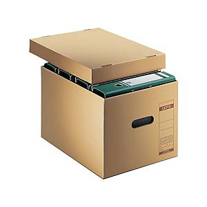 Archiv-und Transport-Schachtel Leitz 6081, A4, 340 x 455 x 275mm, naturbraun
