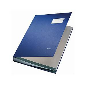 Unterschriftsmappe Leitz 5700, 20 Fächer, PP-kaschierter Einband, blau