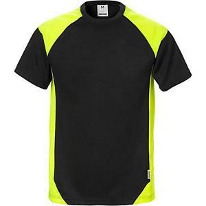 T-shirt Fristads Dynamic 7046, noir/jaune hi-viz, taille L, la pièce