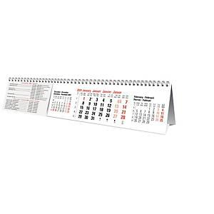 Bureaukalender 3 maanden, viertalig, 30,4 x 6 cm
