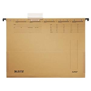Dossiers suspendus Leitz Alpha® 1916, soufflet, pour tiroirs, A4, chamois, 25x