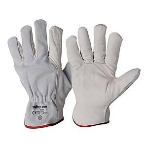 Rękawice skórzane INDUSTRIAL STARTER 07129, białe, rozmiar 11, para