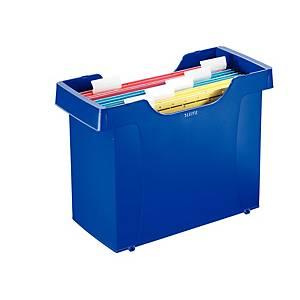 Caixa Leitz com 5 pastas suspensas - A4 - poliestireno - azul