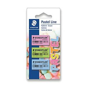 Staedtler pyyhemuovi pastelli värilajitelma, 1 kpl=3 pyyhemuovia