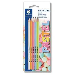 Staedtler lyijykynä HB pastelli värilajitelma, 1 kpl=5 kynää