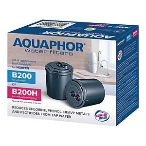 Wkłady do filtra nakranowego do wody pitnej AQUAPHOR MODERN B200H, 2 sztuki