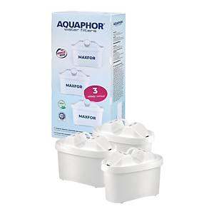 Wymienne wkłady do filtra wody AQUAPHOR MAXFOR, 3 sztuki