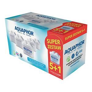 Wymienne wkłady do filtra wody AQUAPHOR MAXFOR, 6 sztuk