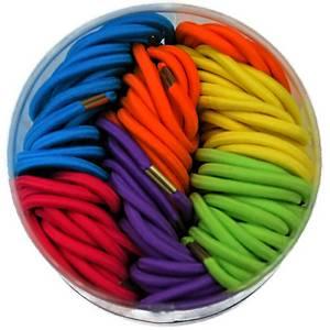Gumki do włosów, mix kolorów, 100 sztuk