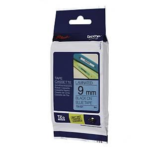BROTHER TZE-521 Tape 9mm X 8m - Black / Blue