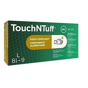 Jednorázové latexové rukavice Ansell TouchNTuff® 69-210, velikost 6.5-7, 100ks
