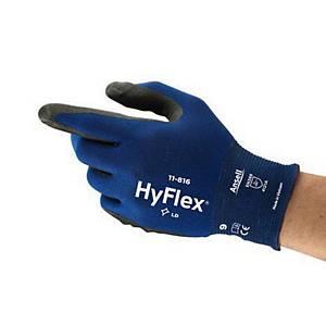 Gants universels Ansell HyFlex 11-816, revêtement nitrile, taille 9, 12 paires