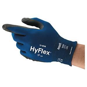 Rękawice ANSELL Hyflex® 11-816, czarno-niebieskie, rozmiar 10, para