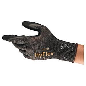 Rękawice ANSELL Hyflex® 11-931, czarne, rozmiar 9, para