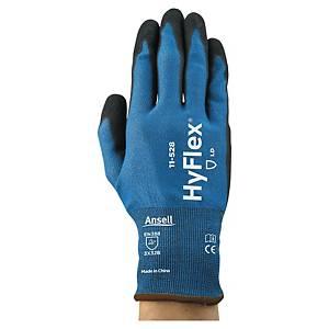 Ansell HyFlex 11-528 snijbestendige handschoenen, nitril gecoat, maat 9, 12 paar