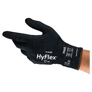 Rękawice antyprzecięciowe ANSELL Hyflex® 11-542, czarne, rozmiar 11, para
