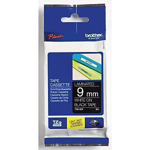 Ruban d étiqueteuse Brother P-touch TZE-325, 9 mm x 8 m, laminé, blanc/noir