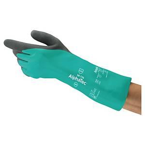 Rękawice ANSELL Alphatec® 58-735, zielono-szary, rozmiar 9, para
