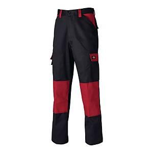 Spodnie DICKIES Everyday ED 24/7, czarno-czerwone, rozmiar 62