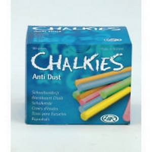 1 box 100 chalk with upperlayer assorted