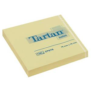Haftnotizen Tartan 007676, 76 x 76 mm, 100 Blatt, gelb