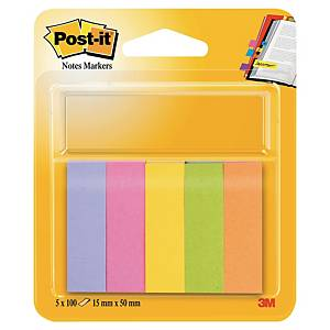 Post-it Index teippimerkki värilajitelma, 1 kpl=5 nidettä