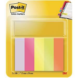 Post-it 670/5 marking strips 15x50 mm 5 colours
