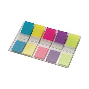 Dispenser Post-it Index, 11,9x43,2 mm, neon, Packung à 5 Stück
